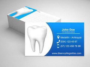 tarjeta de presentacion diseño gratis odontologo1