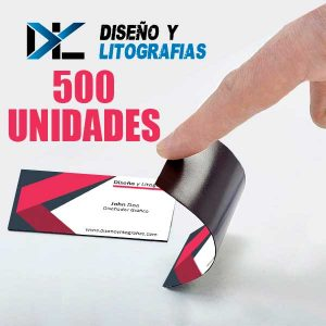 mockup tarjetas iman 500 unidades