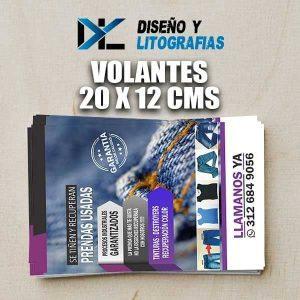 Volantes publicitarios en Medellín tamaño 20 x 12cms